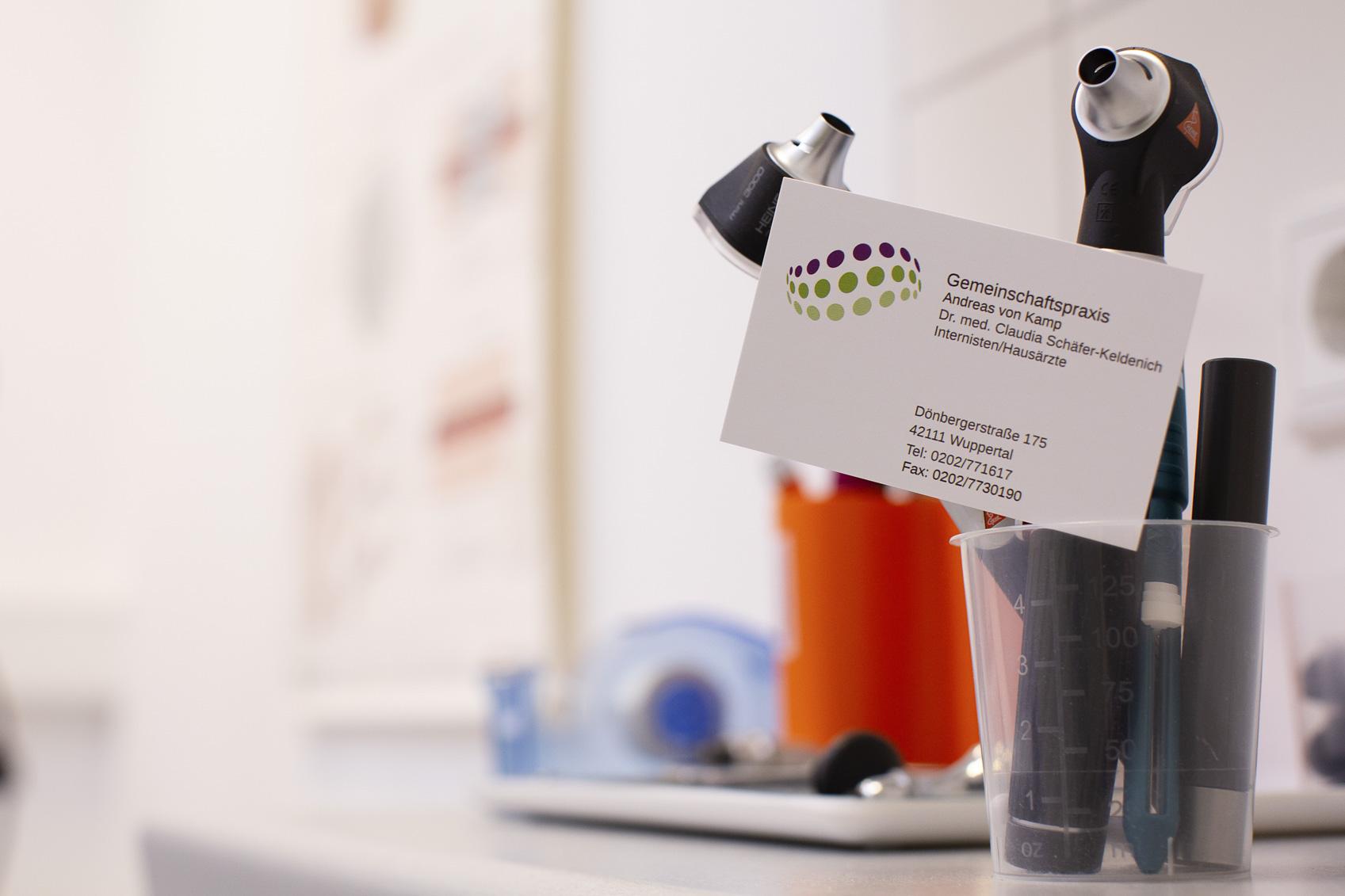 Imagefotos für die Gemeinschaftspraxis A. von Kamp & Dr. med. C. Schäfer-Keldenich, Wuppertal