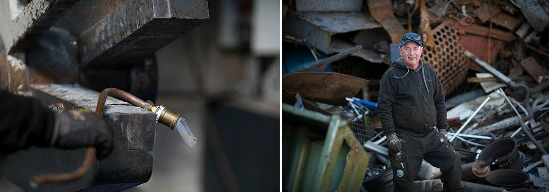 Mulder and pallet recycling.Unternehmensfotografie. Susanne Beimann
